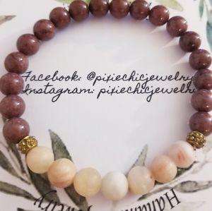 Mens semiprecious bracelet